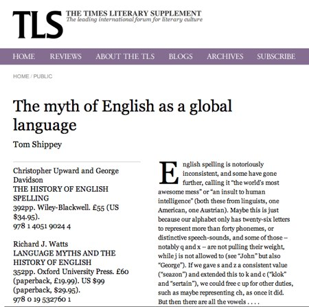Short essay on english as a global language